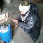 Pause auf der eiskalten Baustelle