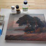 Gemäldereinigung – Arbeitssituation
