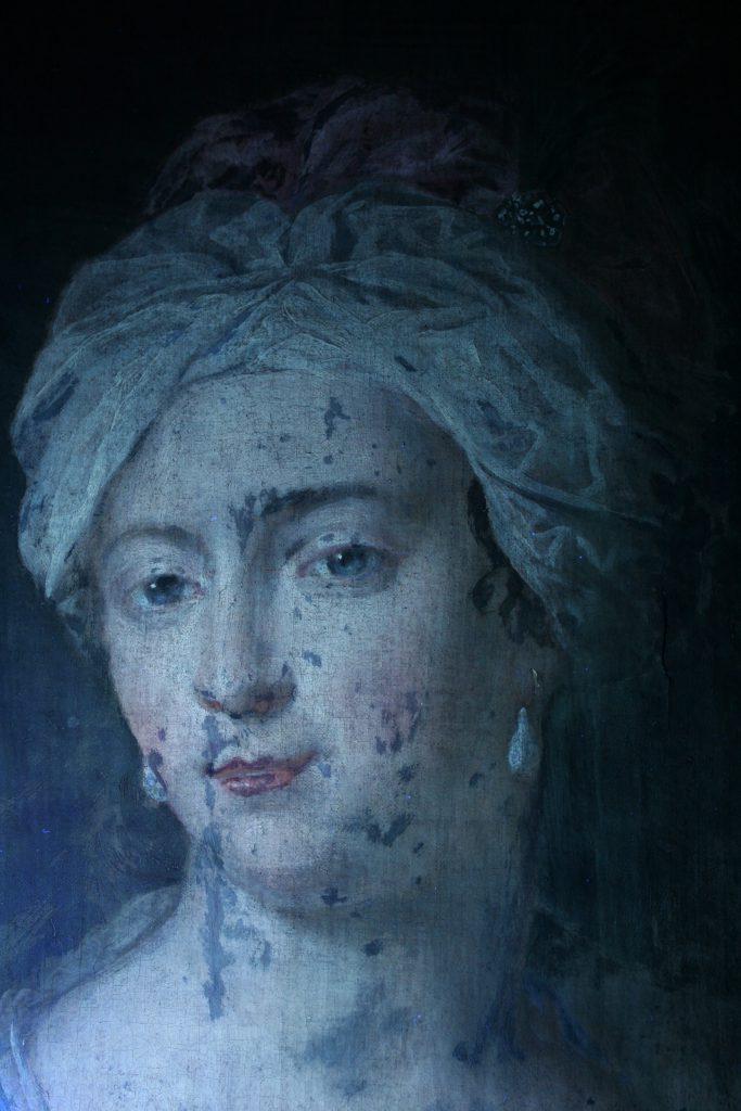 Gemälde bei ultraviolettem Licht